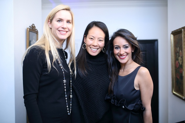 48 Audrey Cochran, from left, Ting Bresnahan and Maryam Afshari at the Baanou Grand Opening Party November 2014