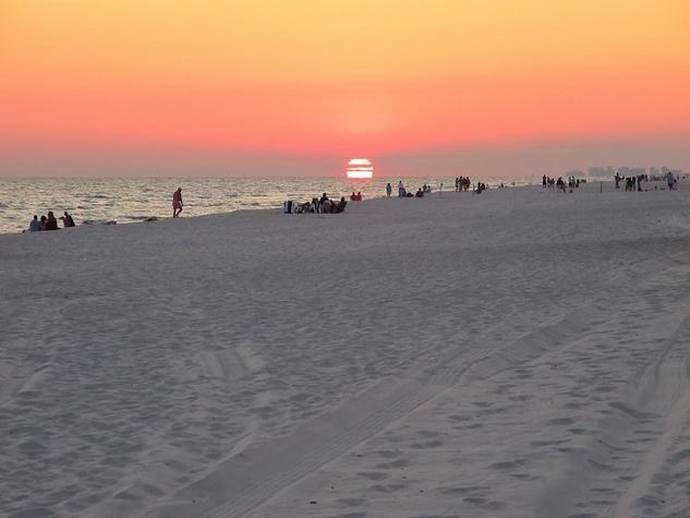Seaside Florida beach at sunset