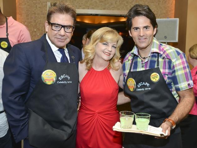 4 ESCAPE Celebrity Waiter Dinner April 2013 Scott Gertner, Kim Padgett, Michael Garfield