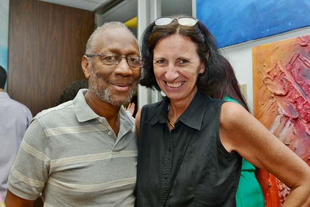 18. Franklyn Barnett and Roswitha Vogler at the Hanh Tran Gallery opening June 2014