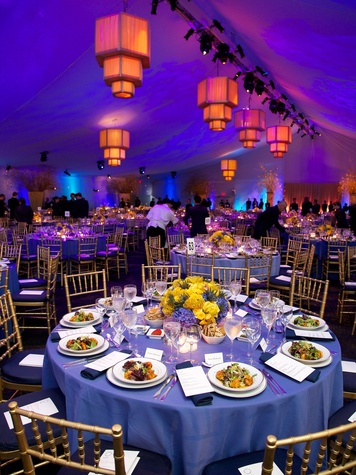 18 scene venue tent table settings at the New York Philharmonic Opening Night October 2013