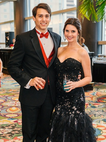 1 Michael Trevino and April White at the Memorial Hermann Gala April 2014