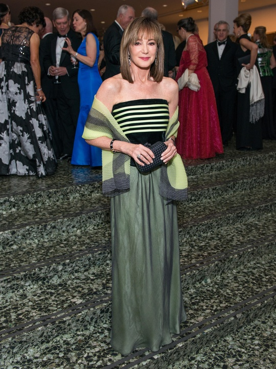28 Janet Gurwitch wearing Armani Black Label at the MFAH Grand Gala October 2014 GOWNS