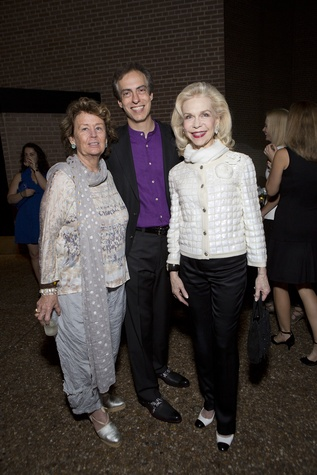 Gayle DeGeurin, from left, Christopher Rothko and Lynn Wyatt at the Rothko Chapel Moonrise Party October 2014