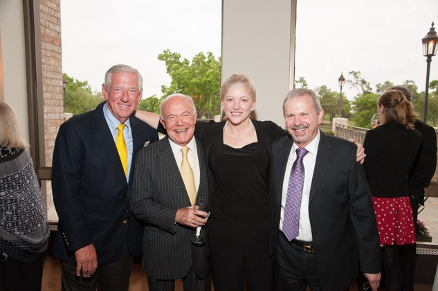 Morty Cohn, from left, George Stark, Tamra Mast and Marc Grossberg at the Jung Center dinner April 2014