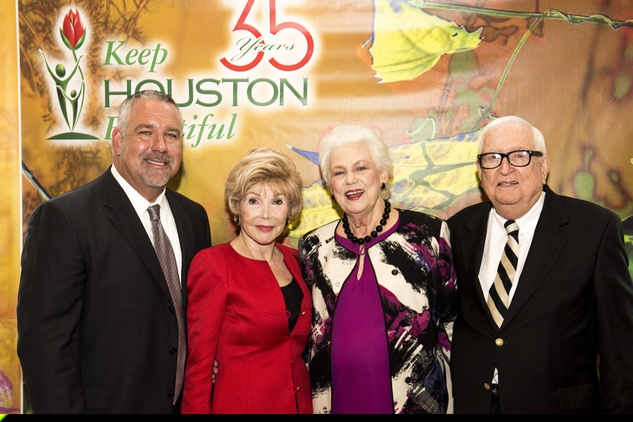 8 Harry S. Jukes III, from left, Joann King Herring and Betty and Harry T. Jukes at the Keep Houston Beautiful luncheon