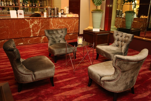 65 Lounge seating Wortham Center Founder's Salon makeover March 2015