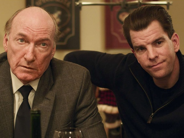 Fitzgerald Family Xmas, December 2012, Ed Lauter, co-star Mike McGlone
