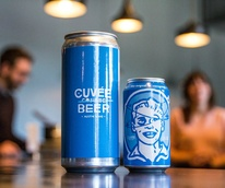 Cuffee Coffee Black and Blue nitro beer can 2015