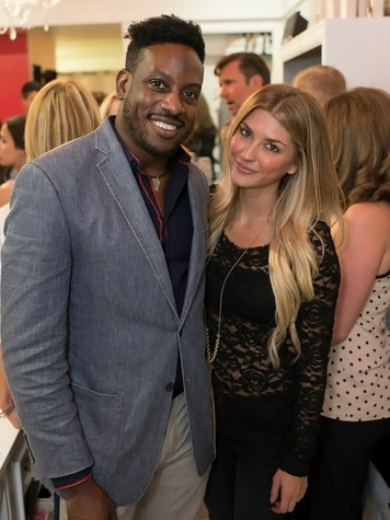6 Lanre Omotunwashe and Ashlee Frazier at the KB Kasuals party September 2014