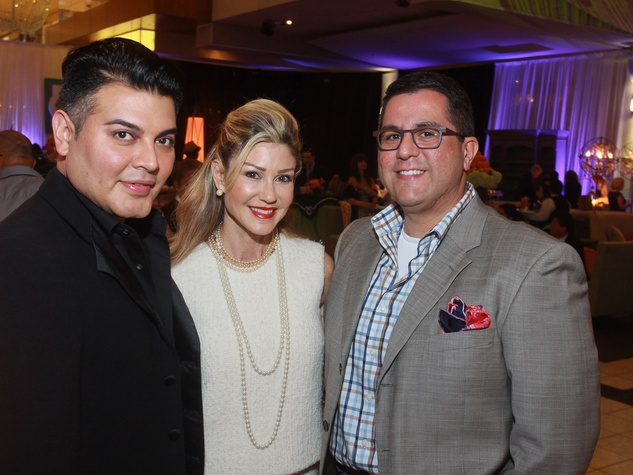 56 Edward Sanchez, from left, Patti Murphy and Dr. Roland Maldonado at the Houston Ballet/Carnan Properties party.