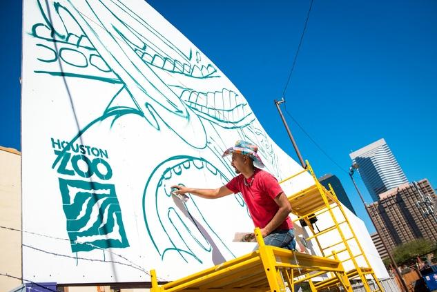 Houston Zoo gorilla art street art murals GONZO247 2