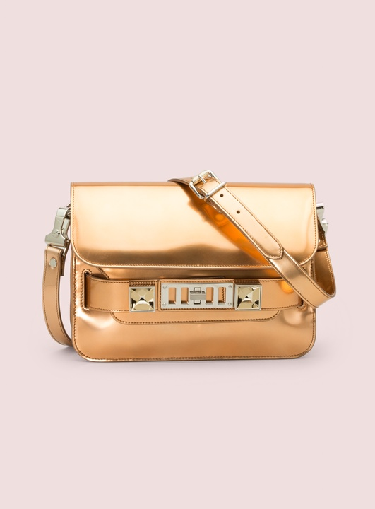 Proenza Schouler marigold mirroed leather PS11 mini classic