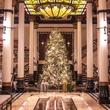 Driskill hotel Austin Christmas tree lobby
