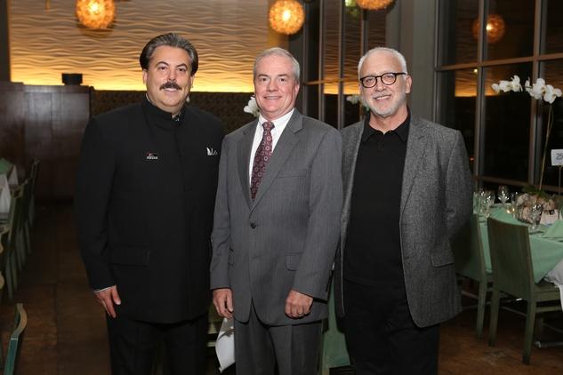 10 Alan Ratliff, from left, John Breckenridge and Bruce Lumkpin at TUTS' Vine & Dine November 2014