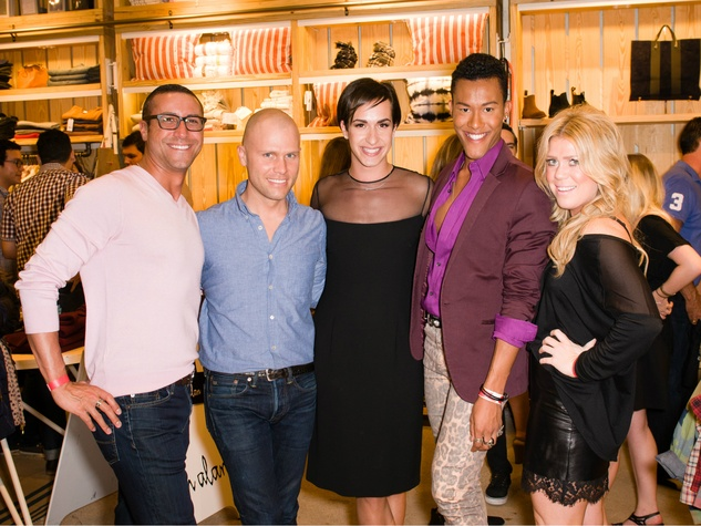 Peter Buffa, Jonas Joiner, Tyler Kerbyson, Eric Oliver, Sarah Joiner at Steven Alan store opening in Dallas