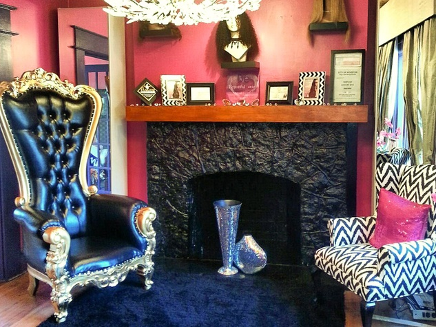 Jazzy Girls Beauty Boutique reception, waiting area