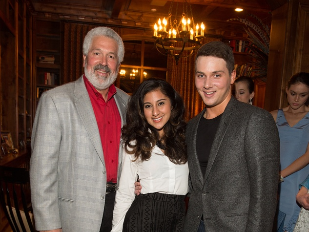 John Tinkle, from left, Natalie Guzman and Jonathan Tinkle at the Pin Oak Charity Horse Show kick-off February 2014 at the Pin Oak Charity Horse Show kick-off February 2014