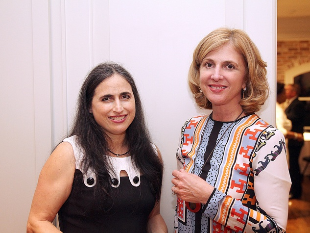 Annette Eldridge, left, and Lynn Goode at the Da Camera Opening Night party October 2013