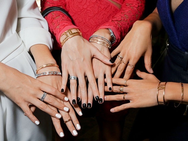 Tiffany & Co. Atlas jewelry collection launch New York September 2013 models hands with jewelry