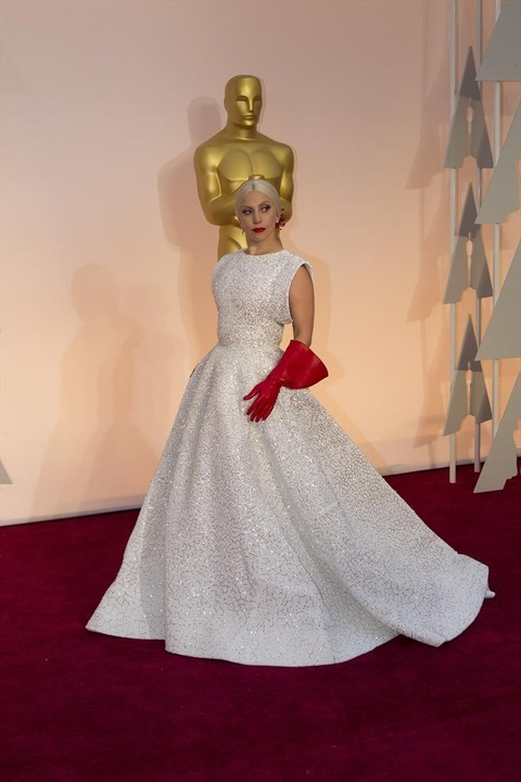 Lady Gaga on the red carpet at the Oscars