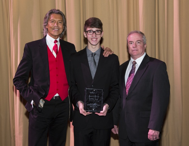 Tommy Tune Awards 2014 Tommy Tune, Ruth Denney Winner Sean Hardin, and John Breckenridge