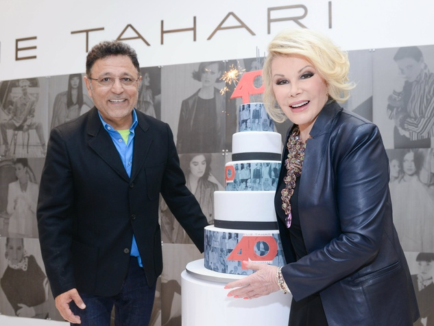 Elie Tahari and Joan Rivers at 40th anniversary celebration in New York November 2013