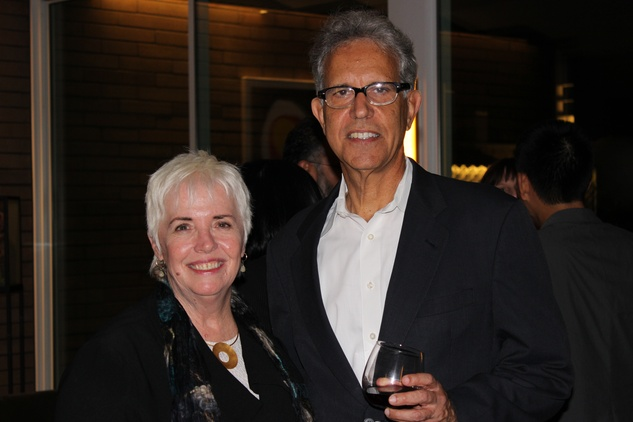 1690 Patricia Oliver and David Kaplan at the UH College of Architecture Memorable Meals October 2014
