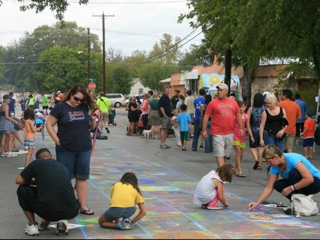 Austin Photo Set: Roby_october activities for kids_sept 2012_sidewalk chalk2