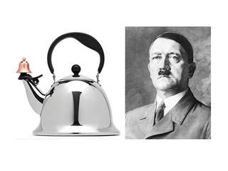 A JC Penney teapot resembling Adolf Hitler
