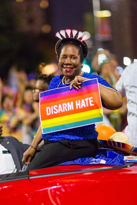 Houston Pride Parade 2016 Sheila Jackson Lee