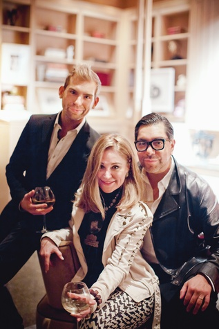 38 Taylor Hudgins, from left, Becca Cason Thrash and Ceron at the Pam & Gela party November 2014