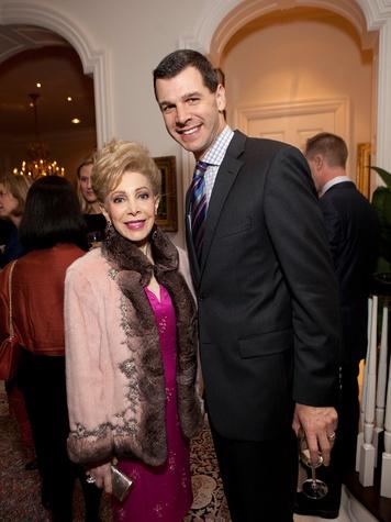 15 Margaret Alkek Williams and Mark Hanson at the Houston Symphony Ball kickoff party November 2013