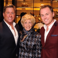 Brian Tiechman, from left, Donna Tiechman and Andrew Cordes Gucci Alley Theatre cocktail party October 2013