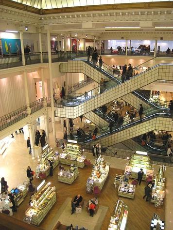 Bon Marche shopping in Paris