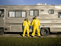 Elizabeth Rhodes: Texas couple's Breaking Bad engagement photos make meth and Hazmat suits romantic
