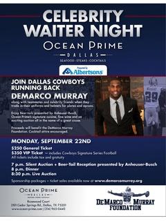 DeMarco Murray Celebrity Waiter Night