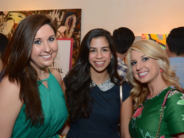 51 Sarah Kline, from left, Alyssa Perez and Erica Davis at the CultureMap Social at Gremillion and Co. Fine Art March 2015