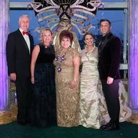 News, Shelby,UST Mardi Gras, Bob Ivany, Marianne Ivany, Trini Mendenhall, Jan and Oniel Mendenhall, Feb. 2015