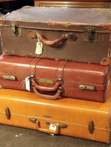 Vintage suitcases from Curiosities