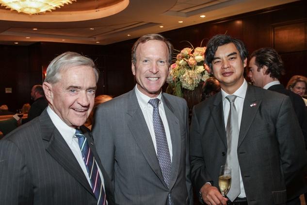 Frank Muller, from left, Neil Bush and Sujiro Seam at the Bush Wine Dinner November 2014