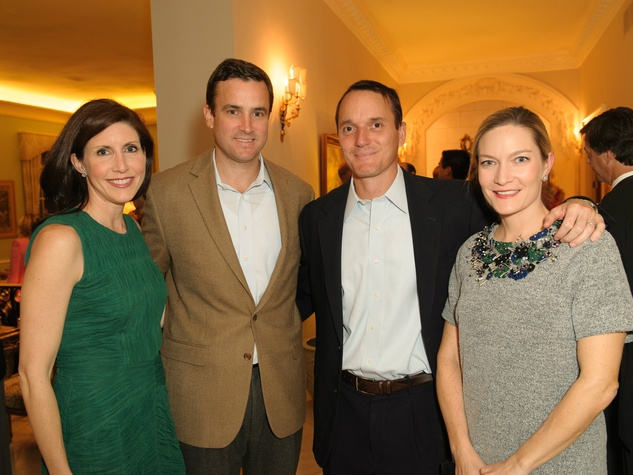 Kara and Jeff Axley, Charlie and Stacey Beck, trains of northpark sponsor party