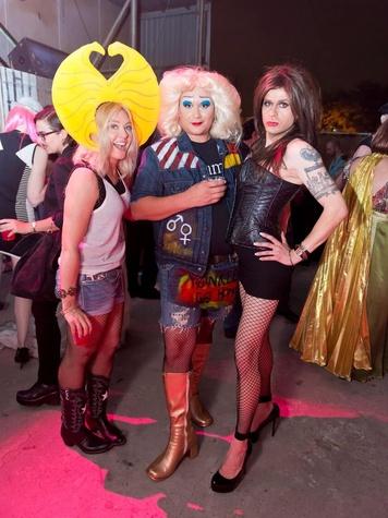 Catastrophic Theatre Drag Ball 2015 Caroline Starry LeBlanc, Jared LeBlanc, Hunter Martin