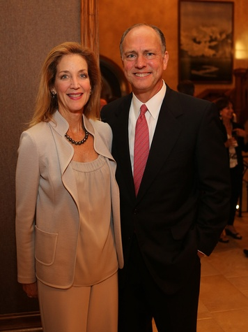Alley Theatre Artists Dinner September 2013 Florence Langford and Tom Langford