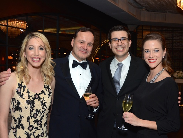 Ingrid Hunter; Luc Messier; Nico Roussel; Teresa Procter at 2017 Da Camera Gala