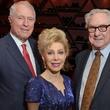Jim Daniel, from left, Margaret Alkek Williams and Bud Frazier at the Texas Heart Institute dinner April 2014