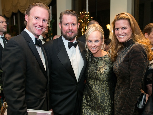 24 Tyler Van Houtan, from left, Scott and Melenie Rothwell and Emily Van Houtan at the Trees of Hope Gala November 2014