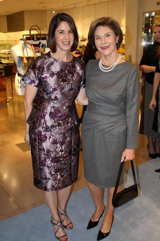 Karen Katz, Laura Bush, CCB 10 Best Dressed Luncheon