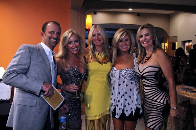 13 Scott Richardson, from left, Sheila Jenkin, Heather Richardson, Toni Batches and Bibi McDonald at the Mercedes-Benz of Sugar Land Cystic Fibrosis Event October 2014