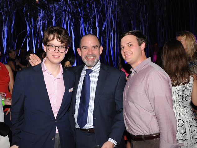 Seth Vaughan, from left, John Bradshaw and Travis Jenner at HAA's Under The Blue Trees Pop-Up Party October 2013